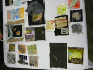 Artwork produced by workshop group - based on museum fossil collection